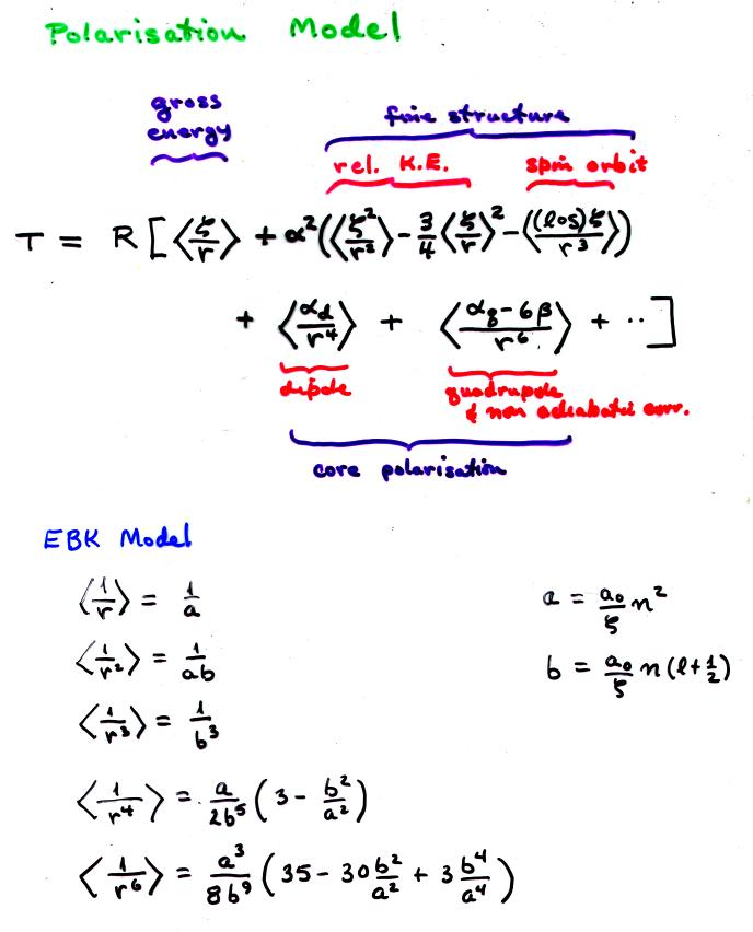 What is the Rydberg equation?